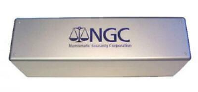 New Official Silver NGC Plastic Slab Box Holder for 20 Coins Collector Storage