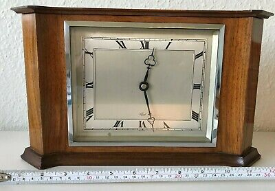 ELLIOTT Mantel clock. Large Art Deco style mahogany case. Working well.