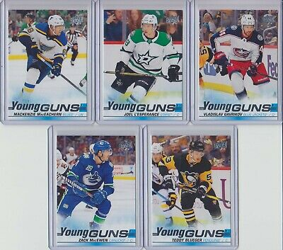 19/20 UD - YOUNG GUNS - SERIES 1 - U PICK FROM LIST - FINISH YOUR SET - .25c ADD