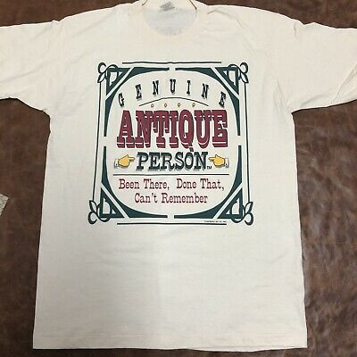Vintage Fruit Of The Loom 1993Antique Person Single Stitch Made In Usa XL Shirt