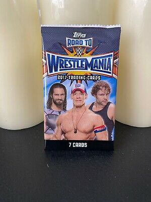 2017 Topps WWE ROAD TO WRESTLEMANIA Single Pack Wrestling Factory Sealed!!
