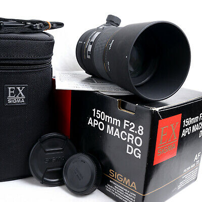 f/2.8 150mm EX DG HSM APO 1:1 Macro SIGMA Lens for NIKON w Box Etc