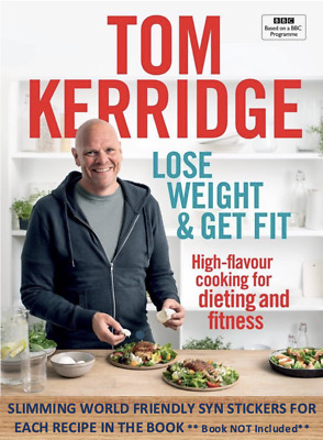 💕Tom Kerridge Slimming World Syn Stickers for the Lose weight & Get Fit Book 💕