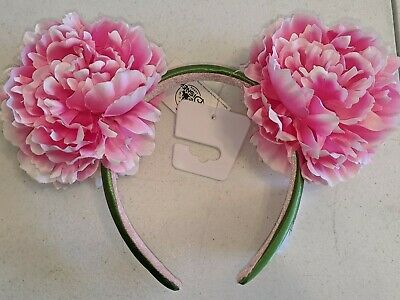 Disney Parks Pink Peony Floral 2020 Minnie Mouse Ears Headband NEW