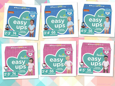 Pampers Easy Ups. Disposable Training Underwear for Girls and Boys 2T 3T 4-5T