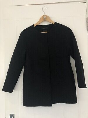 Zara Girls Black Handmade Black Wool Blend Jacket Coat Size 11-12 Years