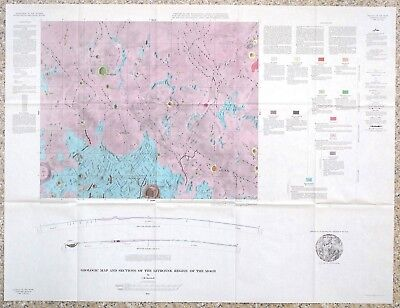 Usgs Apollo Historic Letronne Region Lunar Geologic Map, 1963, I-385, Surveyor 1