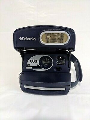 Vintage (Blue) Polaroid 600 Express Instant Film Camera/Working Condition