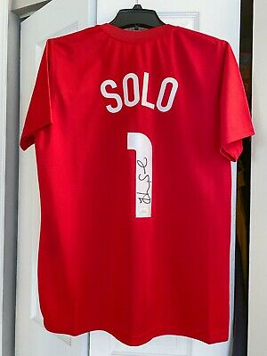 Hope Solo Signed Autographed Team USA Red USWNT Soccer Jersey JSA Witnessed COA