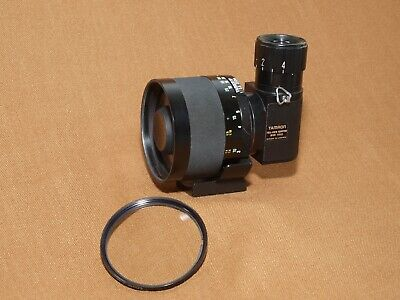 Tamron SP 350 mm f 5.6 lens,case,caps,right angle telescope adapter.