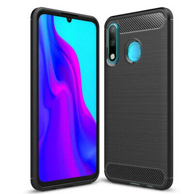 Carbon Handy Hülle HUAWEI P30 lite NEW EDITION Silikon Schutz Case Outdoor Cover
