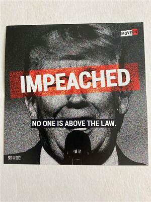 Donald Trump Impeached Nadie Es Above The Law Pegatina Moveon