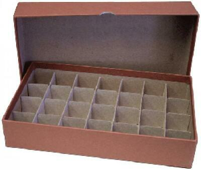 Half Dollar Tube Storage Box Coin Collection Round/Square Coin Holder (Brown)