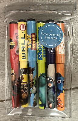SET 6 STYLOS BILLE / BALL PIXAR Disneyland Paris