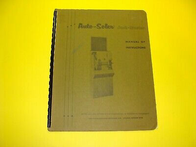 Jack-Master Auto Soler Manual of Instructions 1972