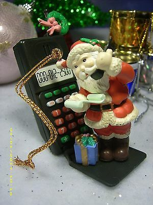 Christmas Traditions Vintage Holiday Ornament Santa Cellphones His Workshop