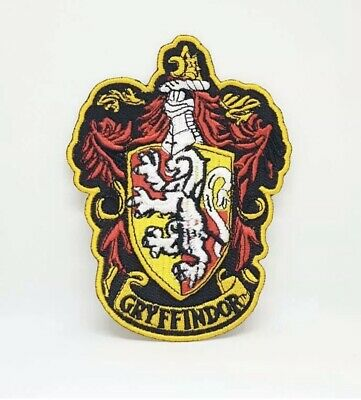 Harry Potter GRYFFINDOR Crest Iron Sew on Embroidered Patch J1169