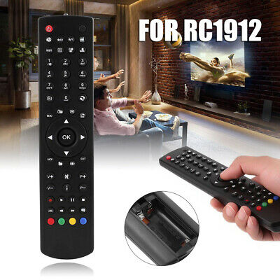 Replacement Universal Portable TV Remote Control Controller For RC1912 Black