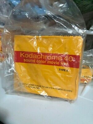 Kodachrome 40 Color Movie Film, Sealed Super 8 Cartridge Type A - Expired 1999