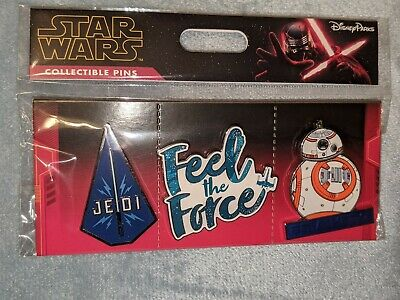 Disney Parks Star Wars Jedi Feel the Force BB-8 3-Pin Booster Set NEW!