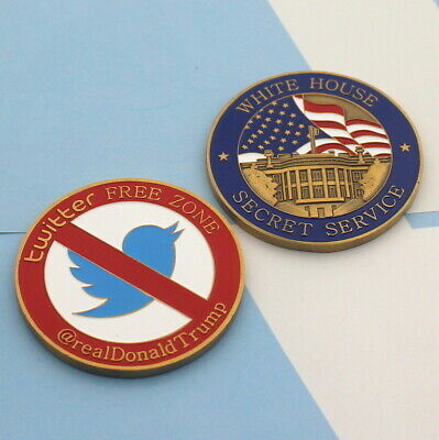 challenge coin DONALD TRUMP twitter white house secret service