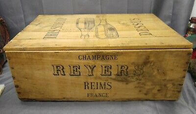 Old Vintage Wooden French Champagne Crate Sovereign Importers LTD New York