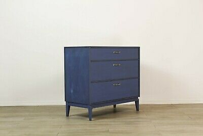 Mid Century Blue Chest of Drawers, Blue Dresser, Blue Commode, Blue Dresser