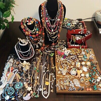 9 LBS Estate Vintage To Now Wear Resell Jewelry ALL Good Cond