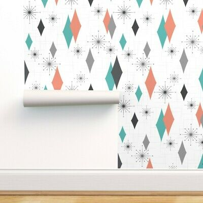 Vintage, Mid Century Modern Retro Peel-and-Stick Removable Wallpaper 1950/'s