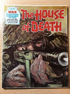 "1982 Fleetway War Picture Library Comic # 1842 ""The House of Death"""