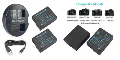 DMW-BLC12 Newmowa Replacement Battery 2 batteries and dual charger