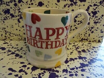 Emma Bridgewater Polka Hearts Happy Birthday Mug