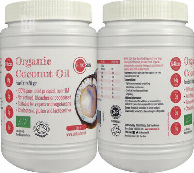 PINK SUN Raw Organic Coconut Oil 1 Litre (or 3 6 12 litres) Extra 1000ml