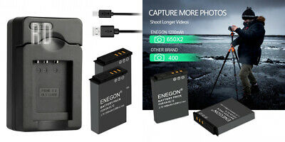 ENEGON Replacement Battery(2-Pack) and USB 2 EN-EL12 Batteries & Charger