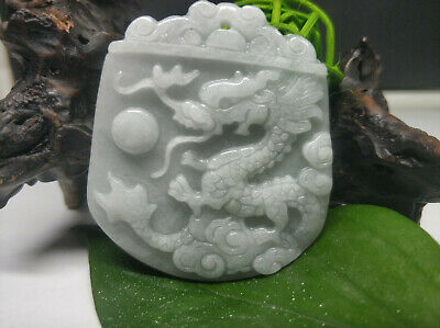 AAAAA Chinese Hand-carved aristocratic wearing Jadeite jade pendant Dragon