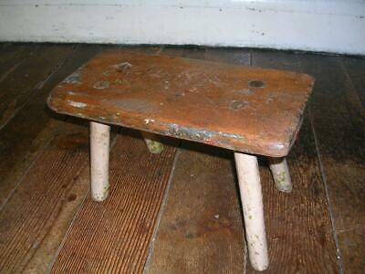 Antique 19th century country stool. Milking stool.