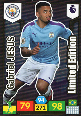 Panini Adrenalyn Xl Premier League 2019/20 Gabriel Jesus Limited Edition 19/20