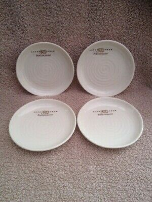 Sophie Conran For Portmeirion Coupe Plates x 4, White, Brand New, LAST SET