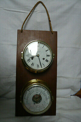 Schatz Glasenuhr Royal Mariner mechanisch Barometer Thermometer Wetterstation