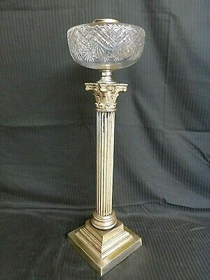 Large  Messengers  Cut Glass Corinthian Oil Lamp Base