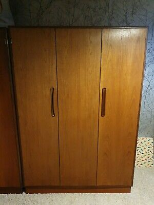 G PLAN, BI Folding Treble Gentlemen's Wardrobe, FRESCO ,Teak, Mid Century, 1960s