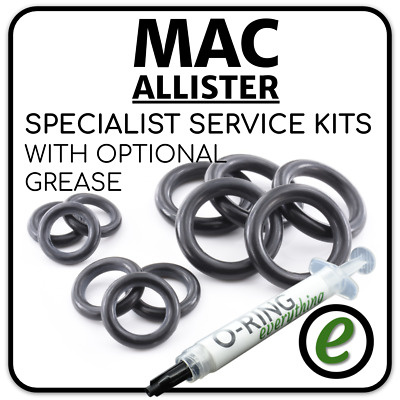 Mac ALLISTER Pressure Washer FULL O Ring Seal service kit + OPTIONAL GREASE