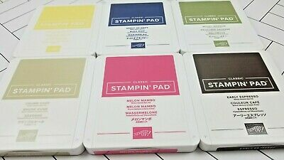 Stampin Up! Ink Pad Classic New Style Gently USED Combined Ship Directions FOAM