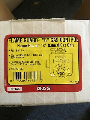 Brand New Robert Shaw Flame Guard B Gas Control Natural Gas Only