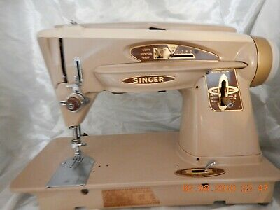 "Singer Model 503A Slant-O-Matic ""The Rocketeer"" Sewing Machine w/some Acc 1961"