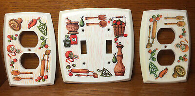 3 Vintage Kitchen Outlets & Double Switch Covers American Tack & Hardware Retro