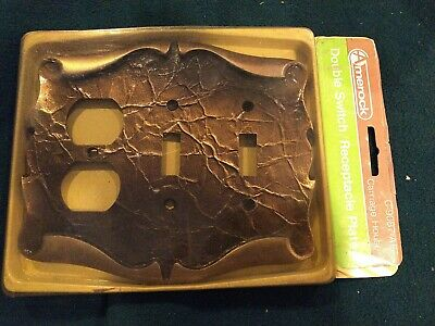 Vtg Amerock Carriage House Double Switch Receptacle Plate C 9087-AE