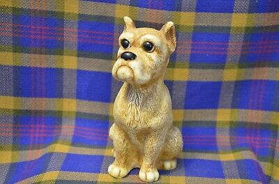 Vintage 1960s Creative Manufacturing  Plastic Tan Sitting Bulldog Bank-USA