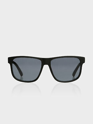 New Lespecs Mens Whats The Story Flattop Sunglasses In Black Sunglasses