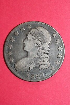 1832 Capped Bust Half Dollar Large Letters Fast Free Shipping OCE 027